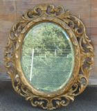 Ornate Gilt Framed Oval Hanging Wall Mirror